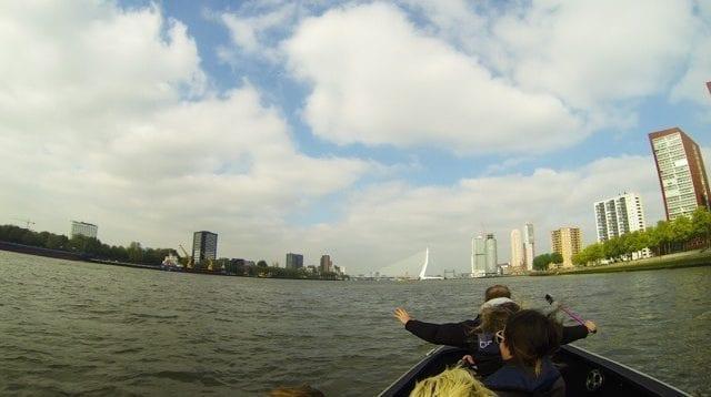 Speedboat in Rotterdam